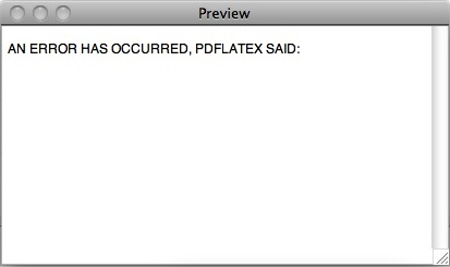 AN ERROR HAS OCCURRED, PDFLATEX SAID: