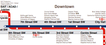 New Calgary Transit CTrain map Thoughts etc